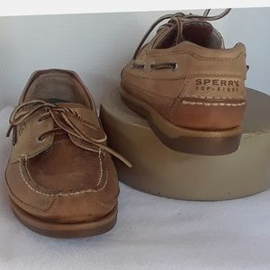 Sperry Leather 2 eye Mako Collection Boat Shoe 10